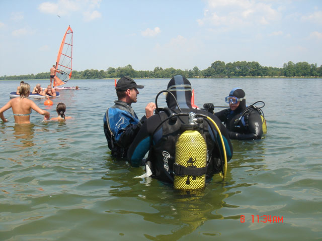Kurs AOWD nad jeziorem Orłowskim (lipiec)