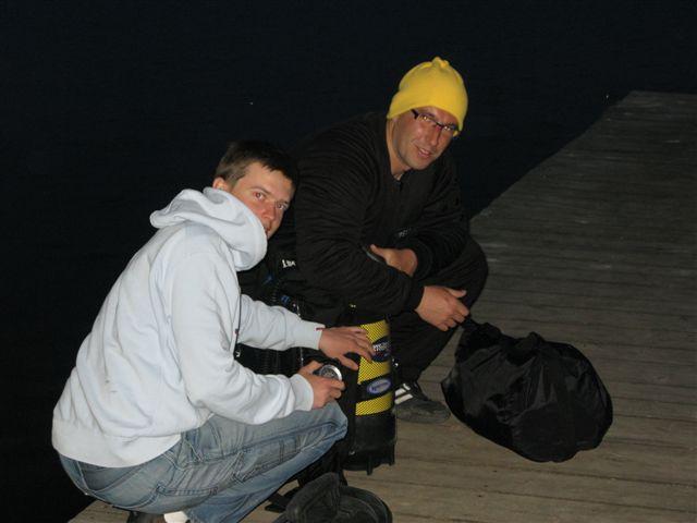 J. Białe - nocne nurkowanie (maj)