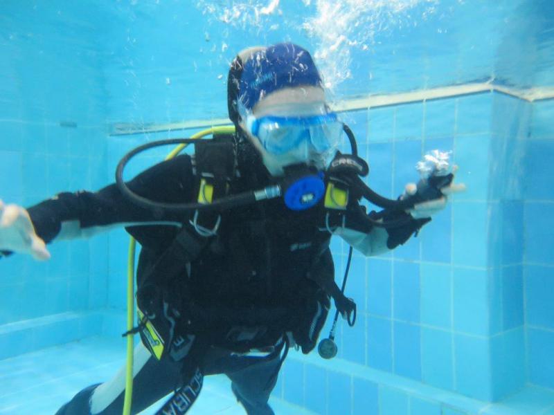 Testy nowego aparatu-zajęcia basenowe